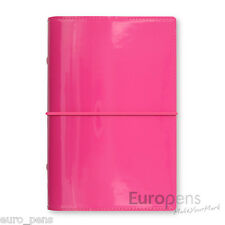 Filofax Domino Patent Personal Size Diary Organiser - Hot Pink (022481)