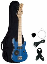 "Raptor E300 30"" Kid's 1/2 Size Electric Guitar with Built In Speaker - BLUE"