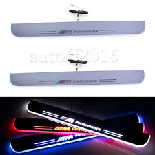 SET OF 2Pcs LED Front Door Sill Scuff Plate Pedal For BMW F10 5 Series 2010-2015