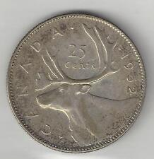 CANADA,     1952,    25 CENTS,  SILVER,  KM#44,  CHOICE EXTRA FINE
