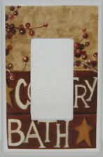 Country Bath Single Rocker Gfi Switch plate  Bathroom