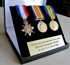 British Campaign Trio Set Medals (1914-1915 Star, BWM and Victory)  WWI WW1