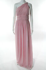 Donna Morgan Pink One Shoulder Bridesmaid Rachel Dress Size 14 New $240 JG330