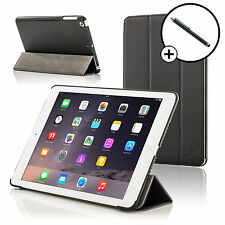 Leather Black Folding Smart Case for All New Apple iPad Air / iPad 5 + Stylus