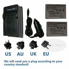 2X NB5L NB-5L Battery+charger for Powershot SX200 SX210 IS CANON Digital Camera
