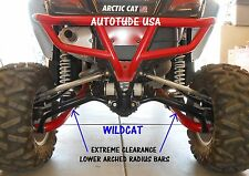 ARCHED WILDCAT 1000 LTD EXTREME CLEARANCE LOWER RADIUS BARS CHROMOLY, BLACK