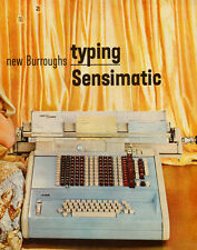 1950s vintage office equipment Ad, Burroughs typing Sensimatic- 011814