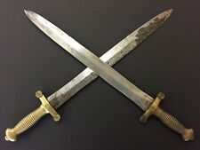 Matched Pair 1800s French Sword Paris Talabotes Artillery Dagger Roman Gladius