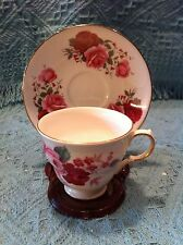 NEW VINTAGE QUEEN ANNE BONE CHINA FLORAL CUP AND SAUCER PATTERN #8523