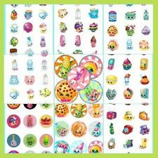 100 Precut assorted SHOPKINS BOTTLE CAP IMAGES Variety 1 inch discs round