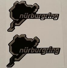 2x Nurburgring Track Logo Gel 3D Decal Exterior Badge Badges Stickers 105 x 60mm