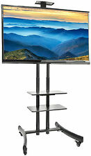 "VIVO TV Cart for LCD LED Flat Screen Mount Stand w/ Mobile Wheels fits 30"" - 70"""