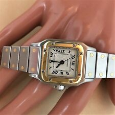 Cartier Santos Stainless Steel 18K Gold ladies watch CARTIER AUTOMATIC  WATCH
