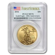 2016 1 oz Gold American Eagle MS-70 PCGS (First Strike)