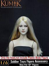 "1:6 KUMIK Lady Female Head Sculpt For 12"" Hot Toys Phicen Action Figure 13-12"