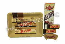 RAW Mini Rolling Tray & Kingsize Papers Tips Juicy Jay Bamboo Rolling Mat Set