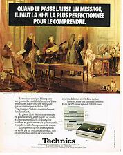 PUBLICITE ADVERTISING 044  1981  TECHNICS  hi-fi platine SL 10