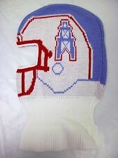 vtg Houston Oilers Titans NFL 90s Game Face Knit Ski Mask Helmet Hat Tecmo Bowl