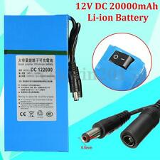 122000 DC 12V 20000mAh Rechargeable Mini Portable Li-ion Battery For CCTV Camera
