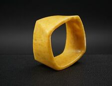 Tiffany & Co Carved Yellow Stone Frank Gehry Wide Torque Ring Pendant  RG720