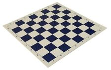 "20"" High Quality Vinyl Chess Board – Meets Tournament Standards - Blue"