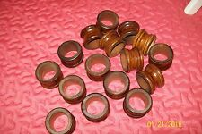 Wooden napkin rings 16 total Made in Taiwan Possibly Bamboo