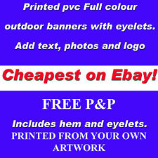 4ft x 8ft PERSONALISED OUTDOOR PRINTED PVC BUSINESS BANNERS  VINYL ADVERTISING