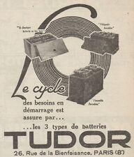 Z8630 TUDOR batteries - Pubblicità d'epoca - 1926 Old advertising
