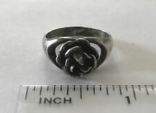 Vintage Erik Granit Finland Sterling Silver Flower Ring