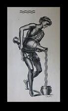 [GRECE – Gravure - Taille-Douce] DECARIS (Albert) - Porteur d'eau à l'antique.