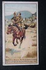 14th Hussars  VC Action  Geluk  Boer War  Original 1913 Vintage Colour Card