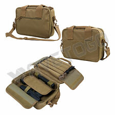 VISM NcSTAR Padded Double Pistol Range Bag double stack Magazine pouches Tan