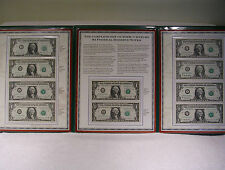 Complete Set of 20th Century $1 Federal Reserve Notes - Pcs Stamp & Coins