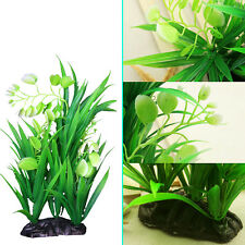 Artificial Plastic Fake Green Plant Grass for Fish Tank Aquarium Pond Water Deco
