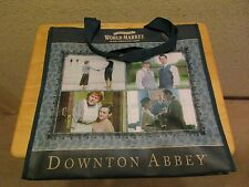 DOWNTOWN ABBEY PROMOTIONAL VINYL BLUE TOTE BAG 15 x 16 Cost Plus World Market