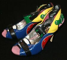 Bucco Heels Pumps Womens Sz 8 Wild Party Bright Shoes