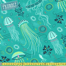 Michael Miller Fabric Into The Deep Tropical PER METRE Sea Ocean Jelly Fish Squi