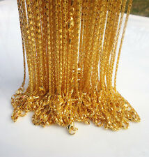 """LOTS 10PCS Gold plated Hollow Snake Chain Necklace With Lobster clasp, 20 """" L"""