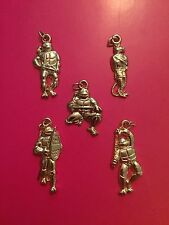��TMNT Turtles GOLD CHARM KEYCHAIN PENDANTS-Vintage Mirage-Tortues Ninja/FRENCH