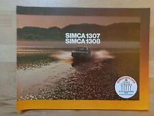 Simca 1307 und 1308 - PROSPEKT (1976)