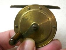 "A VERY PRETTY EARLY VINTAGE 2"" CRANK WIND BRASS CHILDS REEL"