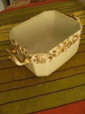 pot faience porcelaine blanc - et doré