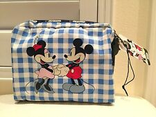 Authentic New LeSportSac Disney Minnie Mouse Love Check Cosmetic MadeUp Bag Cute