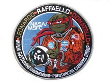 "5"" ISS Space Station Raffaello  Leonardo  Donatello NASA MSFC  MPLM  TMNT PATCH"