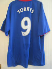 Chelsea Torres 9 2010-2011 Home Football Shirt Size XL Mans /35087