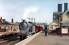 BASFORD NORTH STATION NOTTINGHAM SIGNED PRINT/PICTURE THE PARNHAM GALLERY