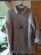 Vintage Jumper With Collar 10 Lavender Grey