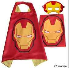 Kids Dress Superhero Cape+Mask Set For Boy and Girl Cosplay Birthday CostumeQQ