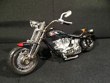 Vintage 2001 Spin Master Toys 1:18 Chopper Motorcycle Black w/ Stripes