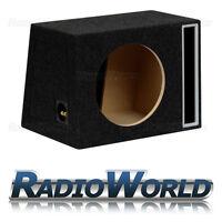 """50L 12"""" MDF Slot Port Sub Box Subwoofer Enclosure Bass Empty Enclosure Black"""